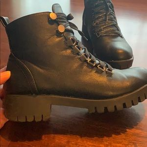 Chase + Chloe Shoes - Chase & Chloe Storm-1 Combat Boots